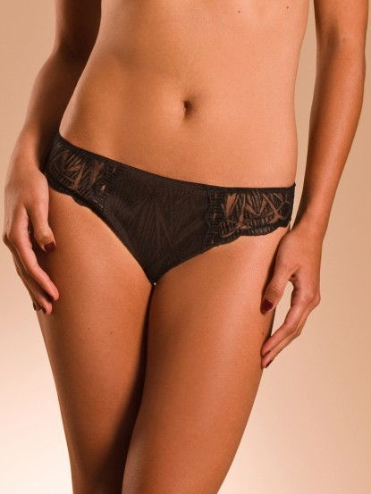 Slip chantelle fascination noir 3653