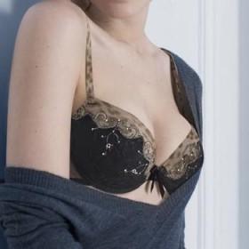 soutien gorge preformé simone perele merveille noir et peau